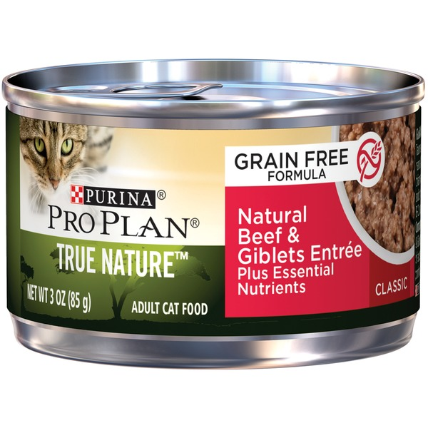 Pro Plan Cat Wet True Nature Adult Grain Free Formula Natural Beef & Giblets Entree Classic  Cat Food