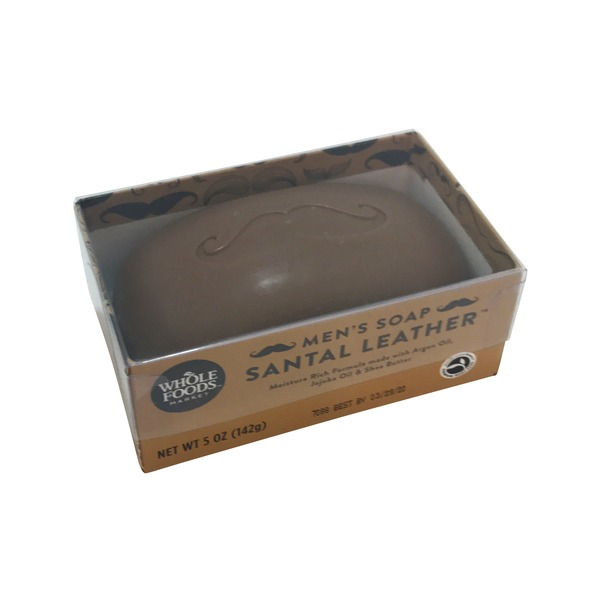 Whole Foods Market Soap Bar Mens Santal Leather