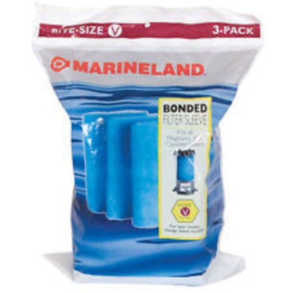 Marineland Rite Size Bonded Filter Sleeve Three Pack For Magnum Models 220 And 350