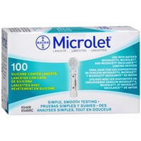 Bayer Microlet Lancets, Silicone-Coated