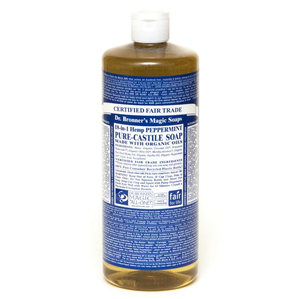 Dr. Bronner's Magic Soaps 18-in-1 Hemp Pure-Castile Soap Peppermint
