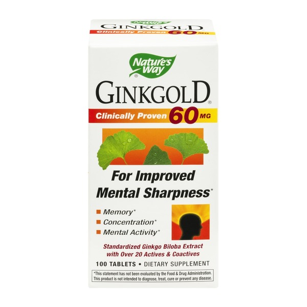 Nature's Way Ginkgold 60mg Tablets - 100 CT