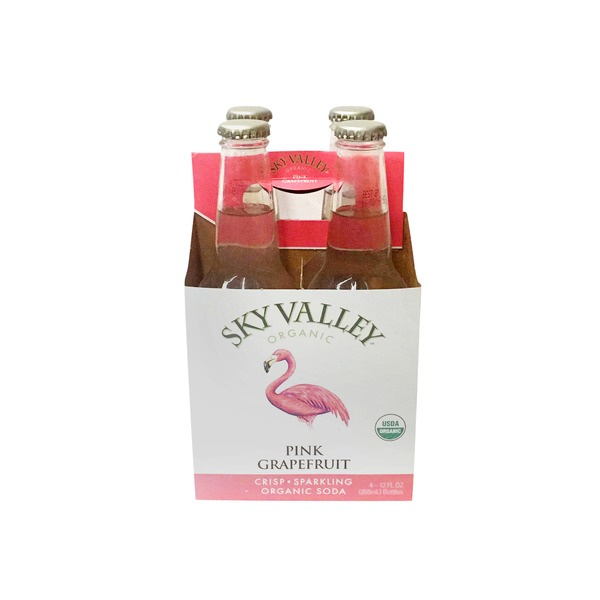 Sky Valley Organic Pink Grapefruit Soda