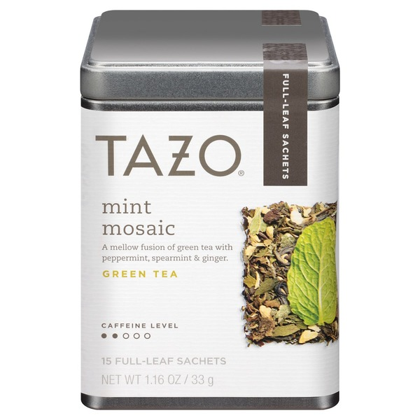Tazo Tea Mint Mosaic Green Tea, Full Leaf Tea