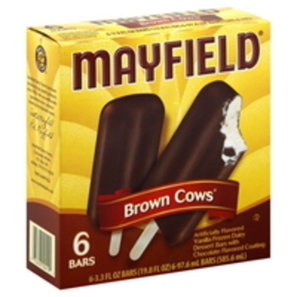 Mayfield Dessert Bars, Brown Cows