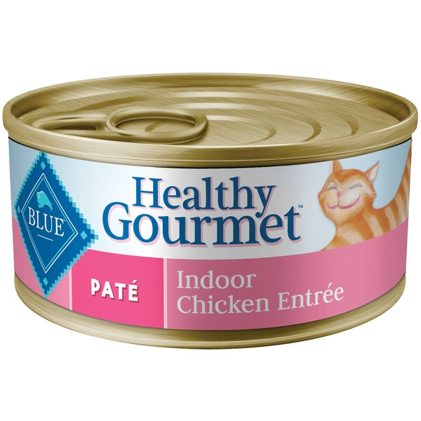 Blue Buffalo Cat Food, Moist, Healthy Gourmet, Pate, Indoor Chicken Entree, Can