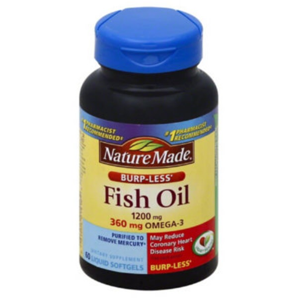 Nature Made Fish Oil Burp-Less Softgels - 60 CT