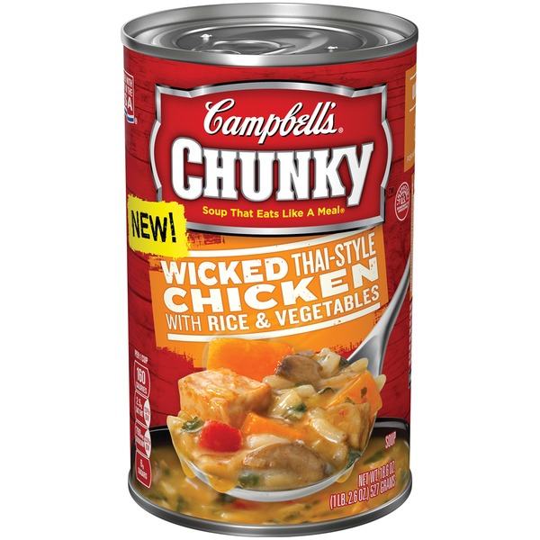 Campbell's Wicked Thai-Style Chicken with Rice & Vegetables Soup