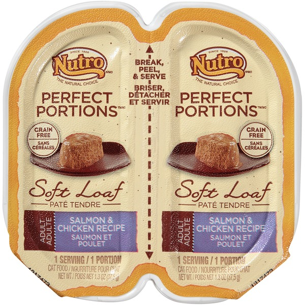 Nutro Perfect Portions Adult Soft Loaf Salmon & Chicken Recipe Cat Food