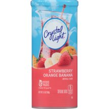Crystal Light Drink Mix, Stawberry Orange Banana, 2.4 Oz, 6 Packets, 1 Count