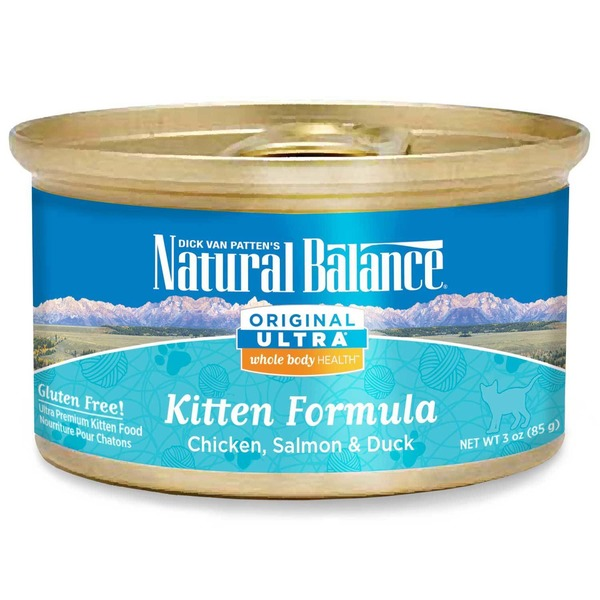 Natural Balance Cat Food, Original Ultra, Kitten Formula, Chicken, Salmon & Duck, Canned
