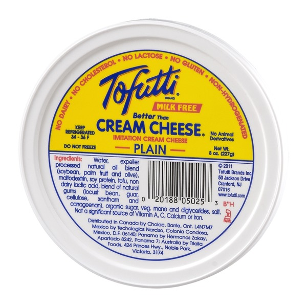 Tofutti Better Than Cream Cheese Imitation Cream Cheese Plain Non-Hydrogenated