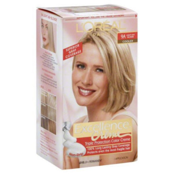Excellence Creme 9A Light Ash Blonde Hair Color