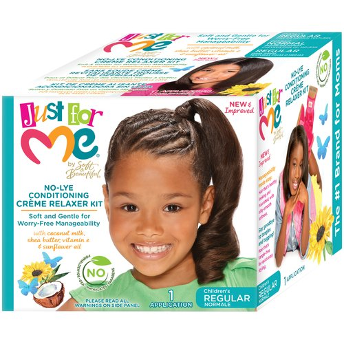 Just For Me by Soft & Beautiful Children's Regular No-Lye Conditioning Creme Relaxer Kit
