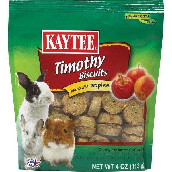 Kaytee Timothy Hay Baked Apple Small Animal Treats 4 Oz.