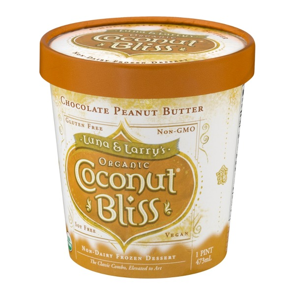 Luna & Larry's Coconut Bliss Chocolate Peanut Butter Non Dairy Frozen Dessert