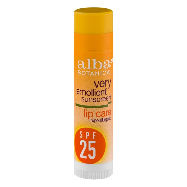 Alba Botanica Very Emollient Sunscreen Lip Care Hypoallergenic SPF 25