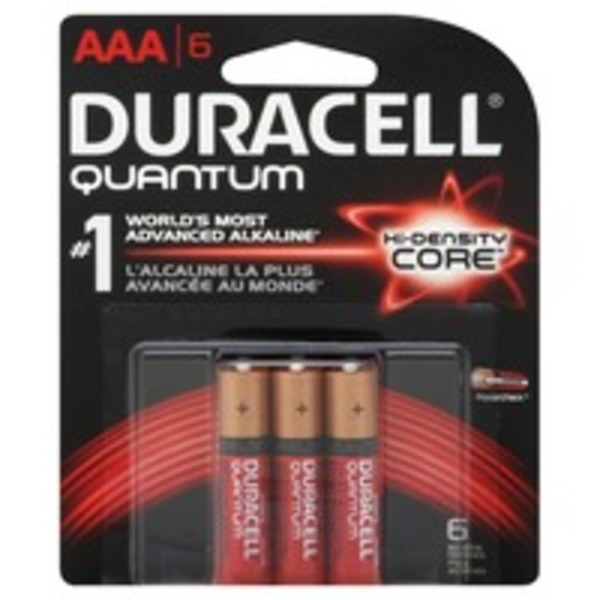 Duracell Quantum Duracell Quantum Alkaline AAA Batteries 6 Count  Primary Major Cells