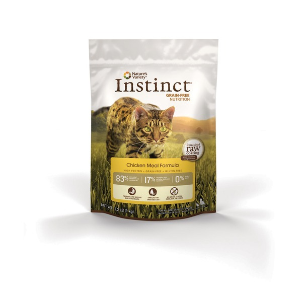 Nature's Variety Instinct Grain Free Chicken Meal Cat Food 2.2 Lbs.