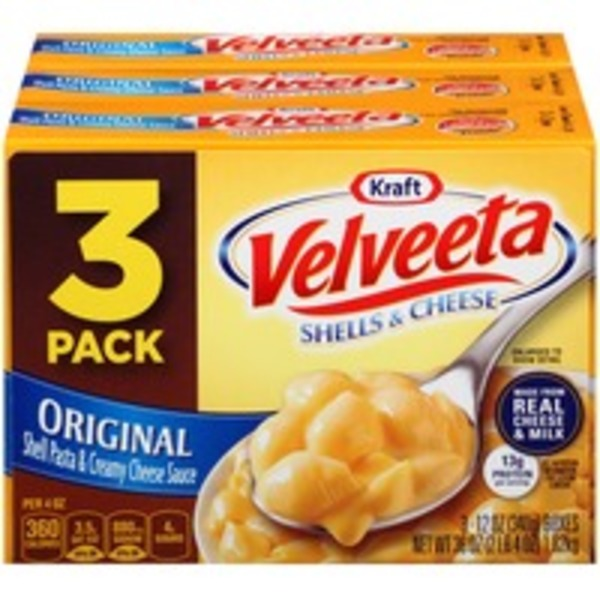 Kraft Dinners Velveeta Original Shells & Cheese