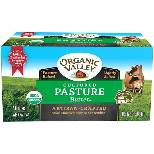 Organic Valley Lightly Salted Cultured Pasture Quarters Butter