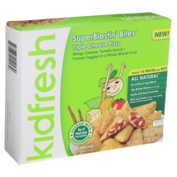 Kidfresh Superblastin' Bites Triple Cheese Pizza