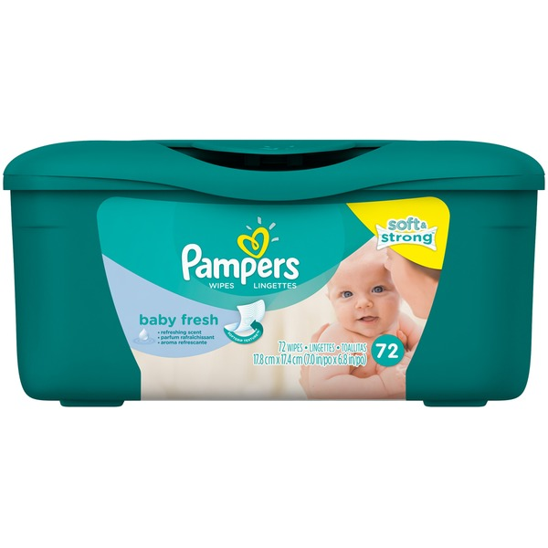 Pampers Baby Fresh Pampers Baby Wipes Baby Fresh Tub 72 count Baby Wipes