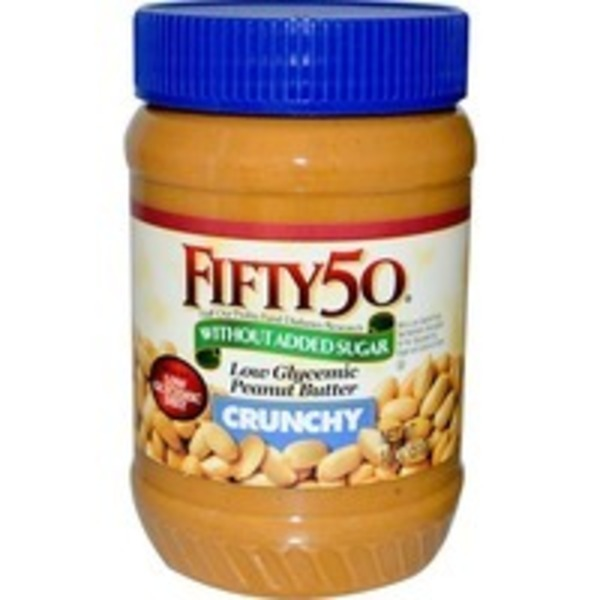 Fifty 50 Peanut Butter, Low Glycemic, Crunchy