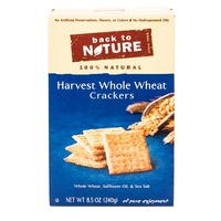 Back to Nature Harvest Whole Wheat Crackers