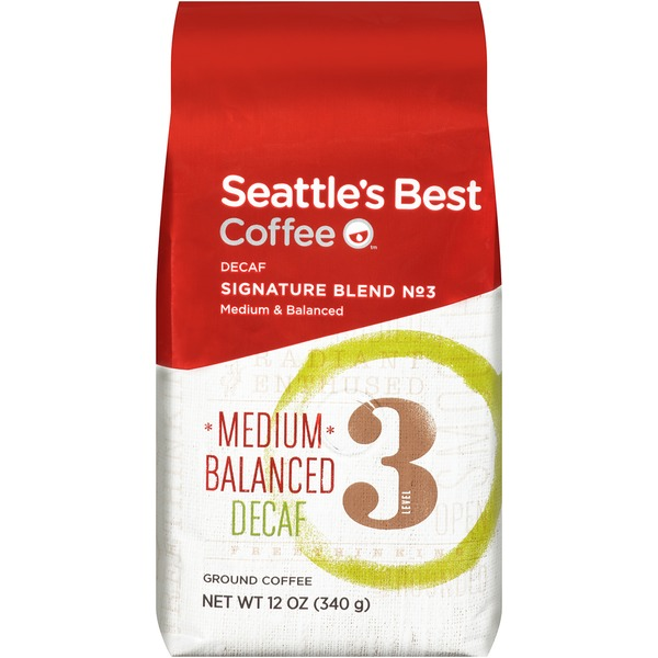Seattle's Best Coffee Decaf Signature Blend No. 3 Medium Balanced Ground Coffee