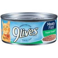 9 Lives Wet Meaty Pate Super Supper Cat Food