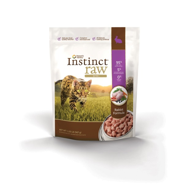 Nature's Variety Instinct Raw Bites Rabbit Formula Nutrition for Cats