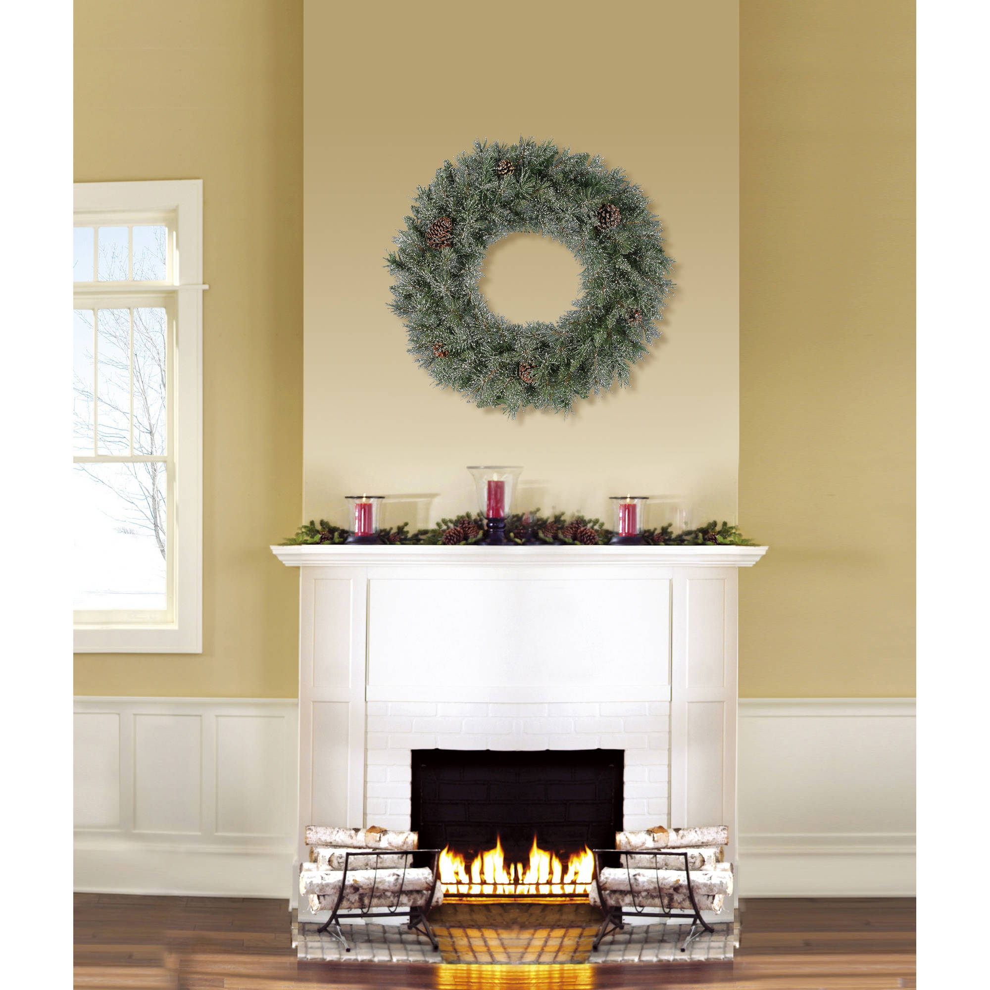 Holiday Time Unlit 24 Conway Pine Artificial Christmas Wreath