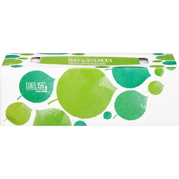Seventh Generation 2-Ply 100% Recycled White Facial Tissues