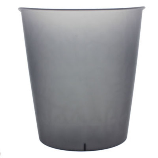 Sterilite 3 Gallon Oval Wastebasket, Grey Flannel Tint