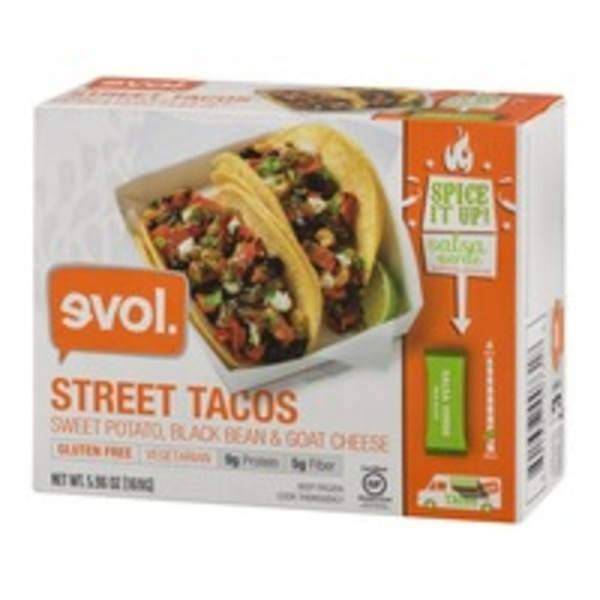Evol Foods Sweet Potato, Black Bean & Goat Cheese Street Taco