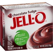 Jell-O Instant Pudding & Pie Filling Chocolate Fudge, 3.9 Oz