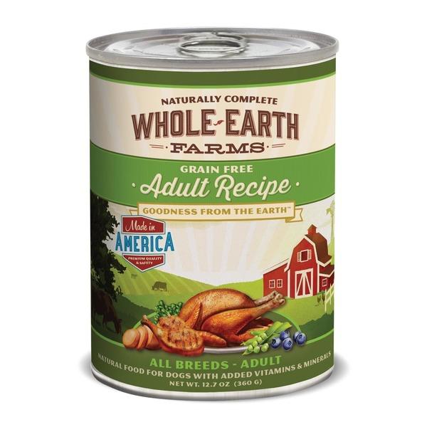 Whole Earth Farms Grain Free Canned Adult Dog Food Case Of 12