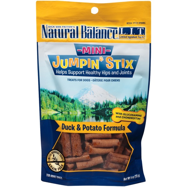 Natural Balance Mini Jumpin' Stix Duck & Potato Formula Dog Treats