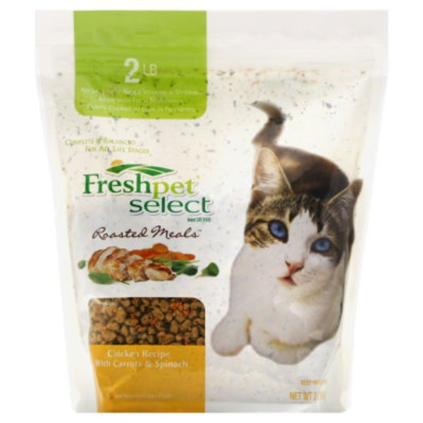 Freshpet Select Roasted Meals Cat Food Chicken Recipe With Carrots & Spinach