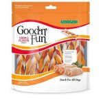 Good'n'Fun Triple Flavored Rawhide Twists Dog Treats, 35 count