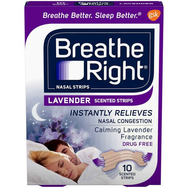 Breathe Right Calming Lavender Scented Nasal Strips