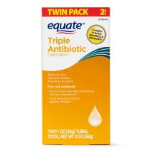 Equate First Aid Antibiotic Ointment, 2 Oz, 2 Pk