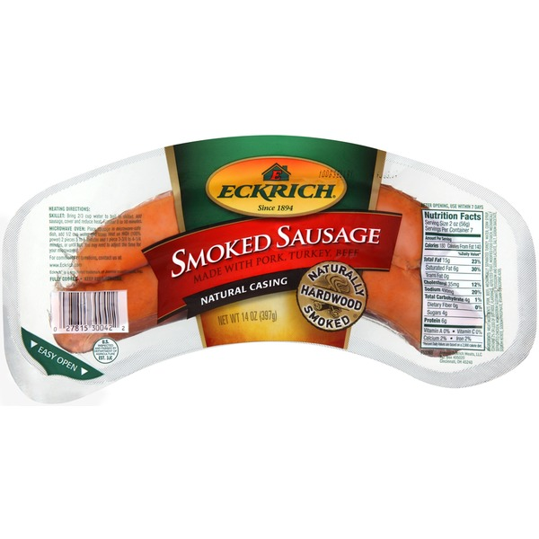 Eckrich Deli Natural Casing Smoked Sausage