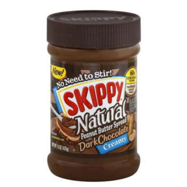 Skippy Natural Creamy with Dark Chocolate Peanut Butter Spread