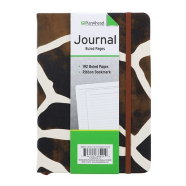 Plan Ahead Ruled Pages Journal Animal Print 192 Pages
