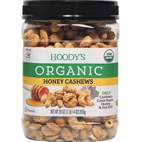 Hoody's Organic Honey Roasted Whole Cashews