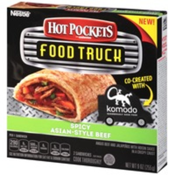 Hot Pockets Spicy Asian-Style Beef Frozen Sandwiches