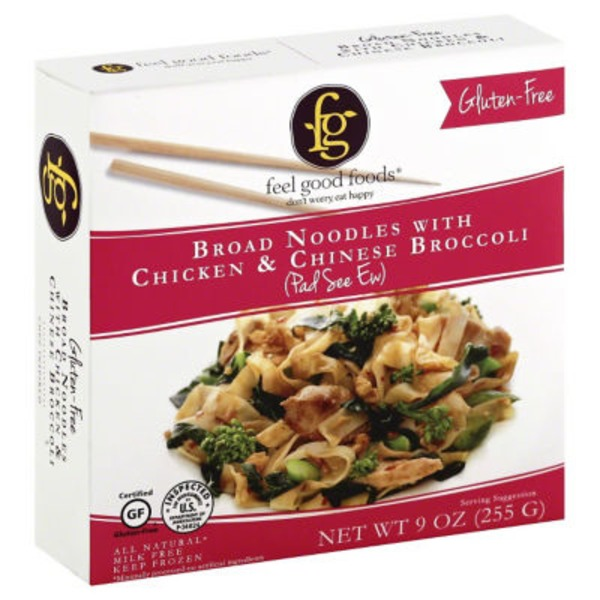 Feel Good Foods Broad Noodles with Chicken & Chinese Broccoli
