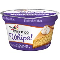 Yoplait Greek 100 Calories Whips! Limited Edition Pumpkin Cheesecake Fat Free Yogurt Mousse Yogurt